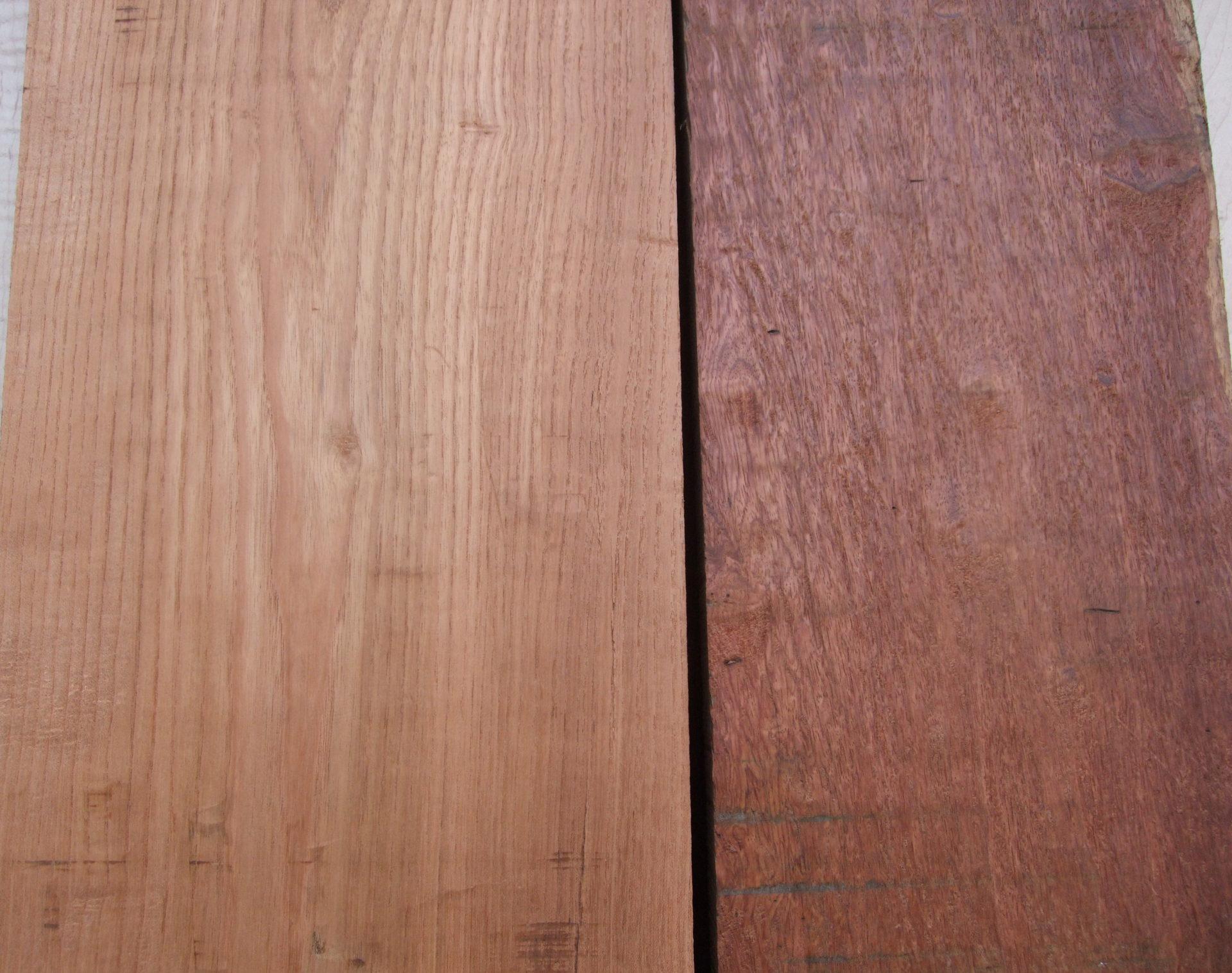 ケンポナシ材とカリン材