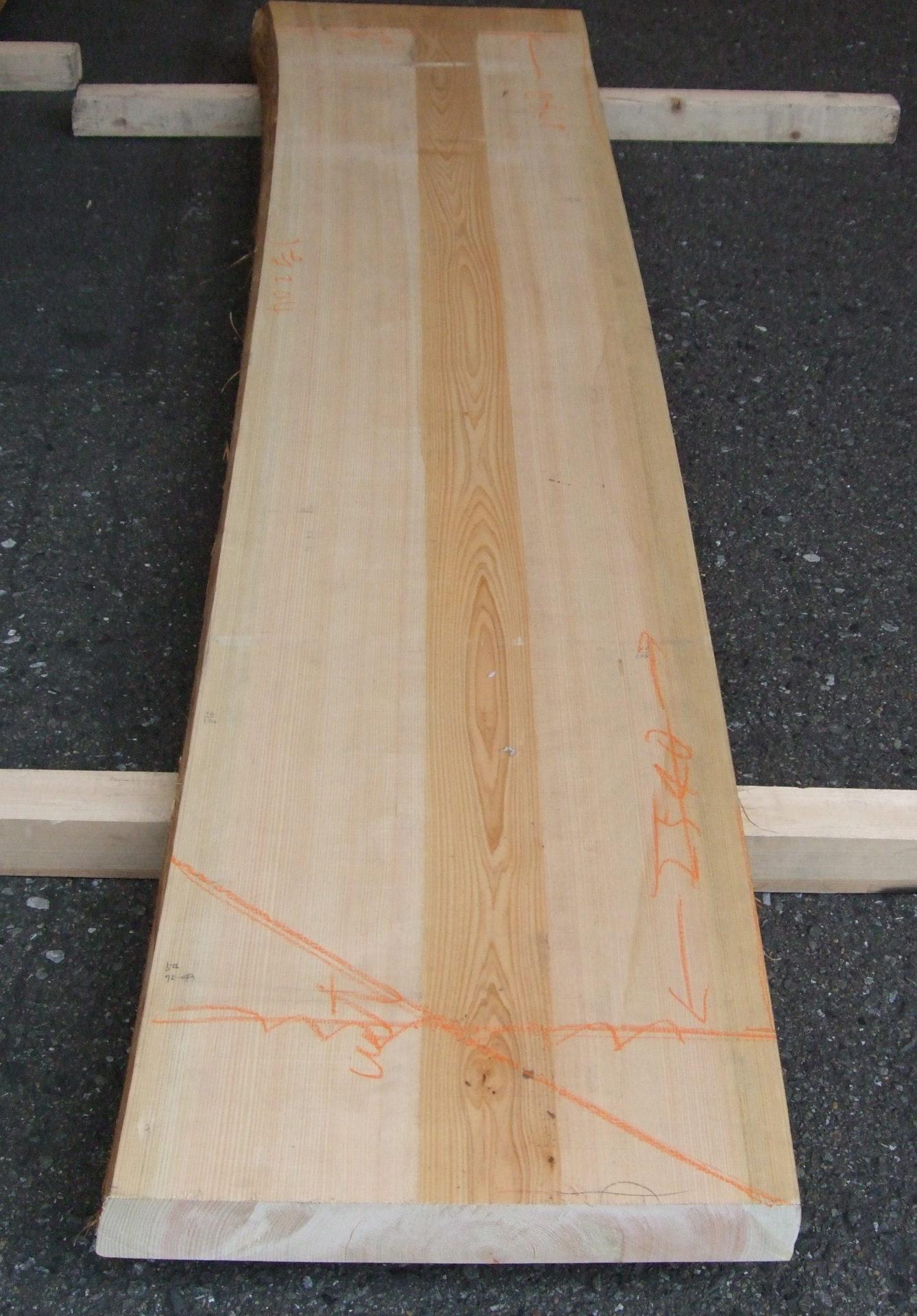 檜のカウンター